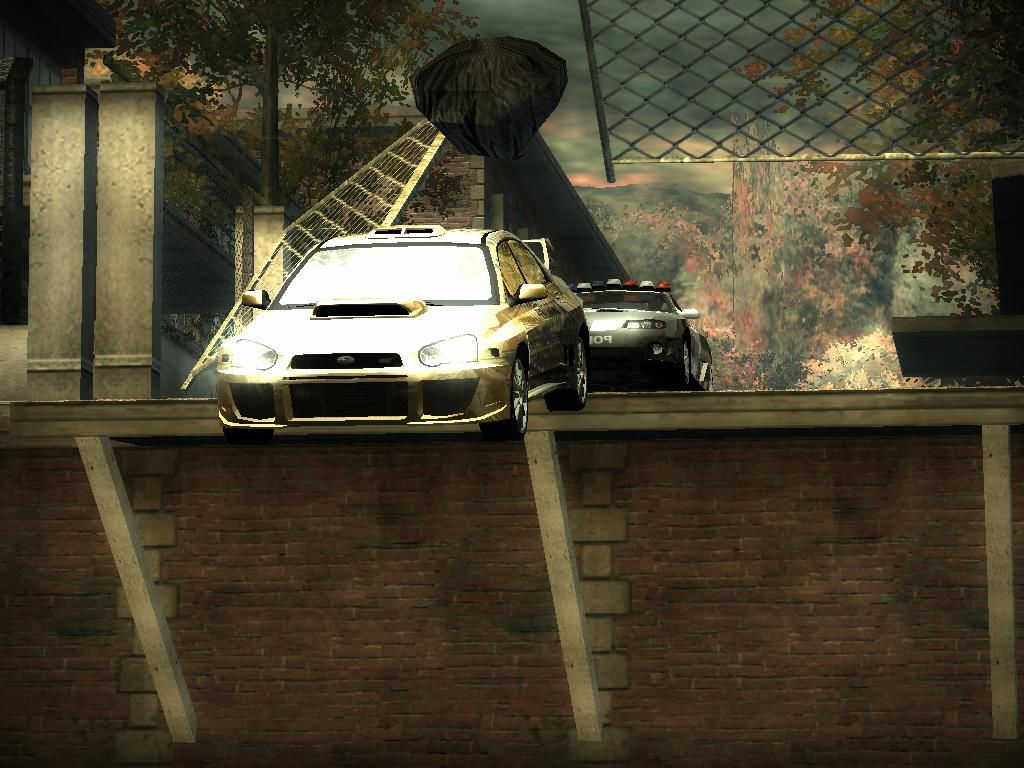 Need for Speed: Most Wanted (Black Edition) Windows Jumping trough fence