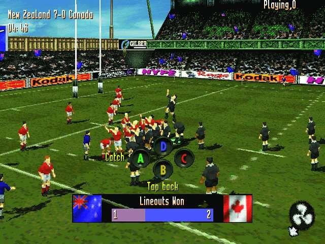 Jonah Lomu Rugby PlayStation Lineout to Wales