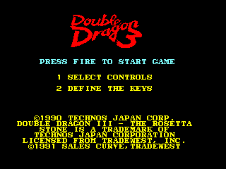 Double Dragon III: The Sacred Stones Amstrad CPC Startup