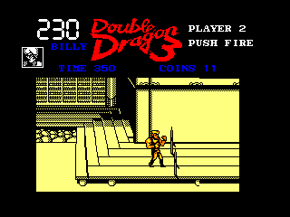 Double Dragon III: The Sacred Stones Amstrad CPC Watch out for those spikes