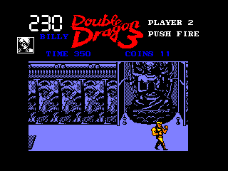 Double Dragon III: The Sacred Stones Amstrad CPC Inside a temple