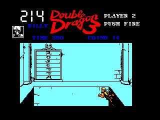 Double Dragon III: The Sacred Stones Amstrad CPC If you stand on the wrong tile, you fall to your death
