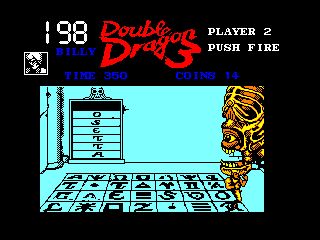 Double Dragon III: The Sacred Stones Amstrad CPC Someone is watching you