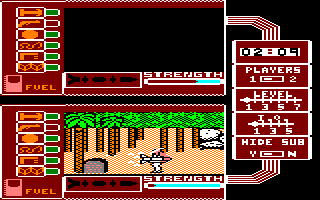Spy vs. Spy: The Island Caper Amstrad CPC Assembled the missile. Now find the submarine
