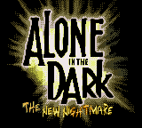 Alone in the Dark: The New Nightmare Game Boy Color Title screen