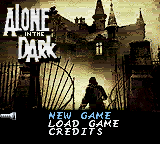 Alone in the Dark: The New Nightmare Game Boy Color Main menu