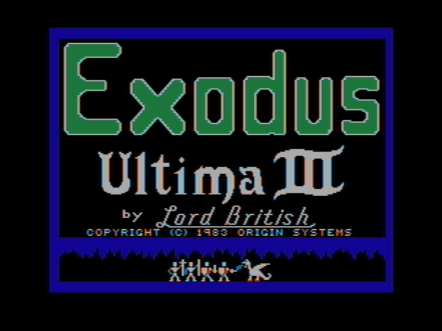 Exodus: Ultima III DOS Title Screen (CGA with composite monitor)