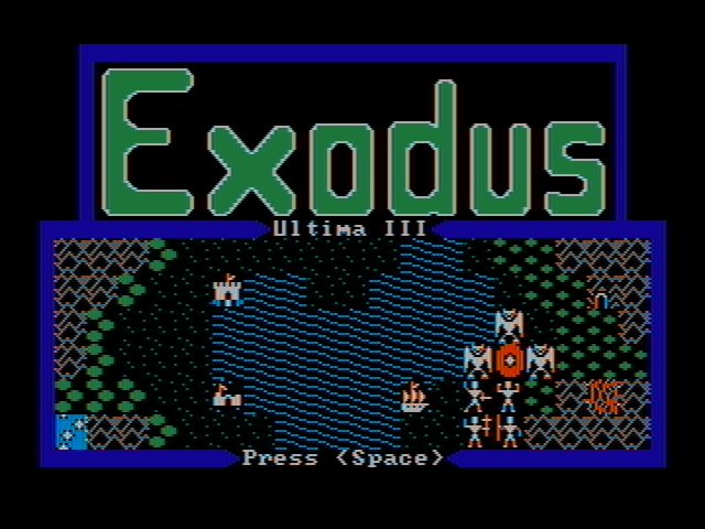 Exodus: Ultima III DOS Demo (CGA with composite monitor)