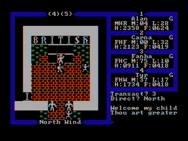 Exodus: Ultima III DOS The Throne of Lord British (CGA with composite monitor)