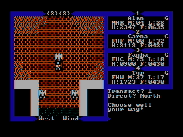 Exodus: Ultima III DOS Castle Fire (CGA with composite monitor)