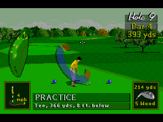 PGA Tour 96 Genesis Instead of going head to head with the Pros, nothing like a practice run on a common par 4 hole