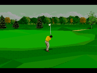 PGA Tour 96 Genesis It goes perfectly in direction of the hole...