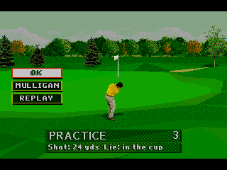 PGA Tour 96 Genesis ... and goes down for a birdie. Perfecting chipping is a must for par 5 holes in tournaments.