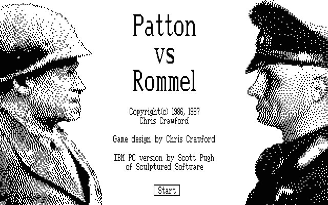 Patton vs. Rommel DOS Title screen