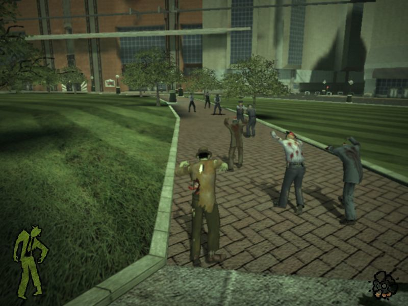 Stubbs the Zombie in Rebel Without a Pulse Windows A small army of the dead attacking the police.
