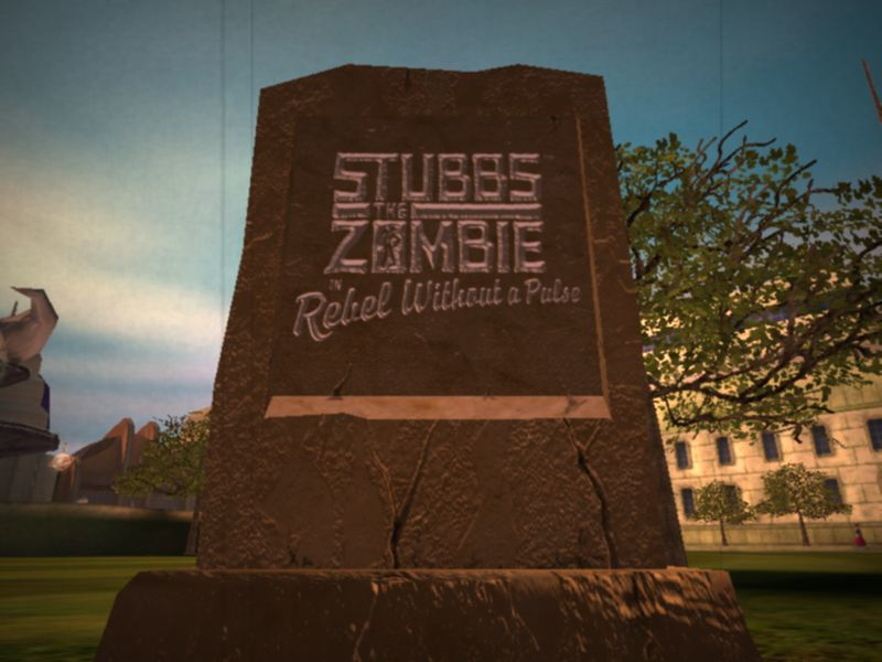 Stubbs the Zombie in Rebel Without a Pulse Windows Title Screen