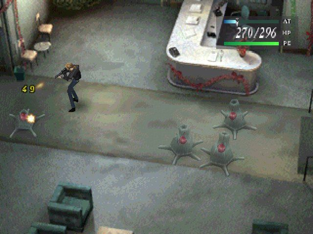 Parasite Eve PlayStation Therefore the best elimination method is one by one, and between their firing back atcha.