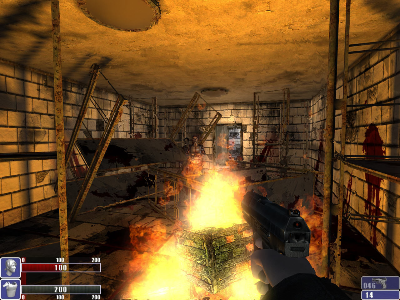 Hellforces Windows Bigger obstacles prevent zombies from attacking.