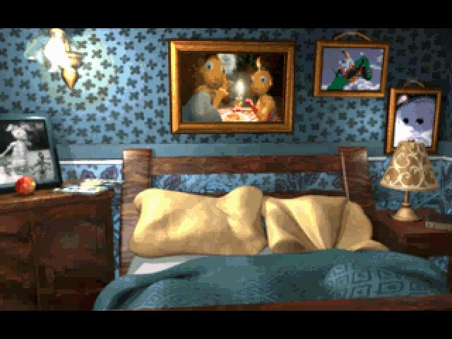 Twinsen's Odyssey Windows In the opening sequence you get a tour around Twinsen's house, including his bedroom.