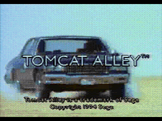 Tomcat Alley SEGA CD FMV title screen
