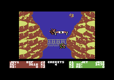 Toobin' Commodore 64 Checkpoint