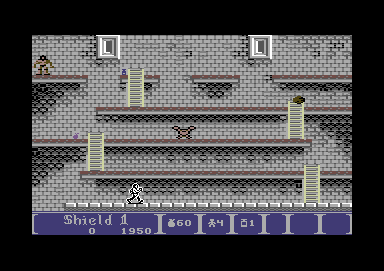 Dark Castle Commodore 64 A more conventional platforming screen
