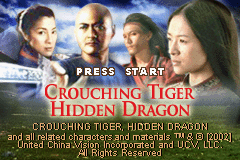 Crouching Tiger Hidden Dragon Game Boy Advance Title screen