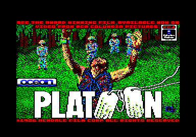 Platoon Amstrad CPC Loading screen