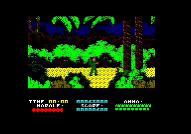 Platoon Amstrad CPC A route downwards here