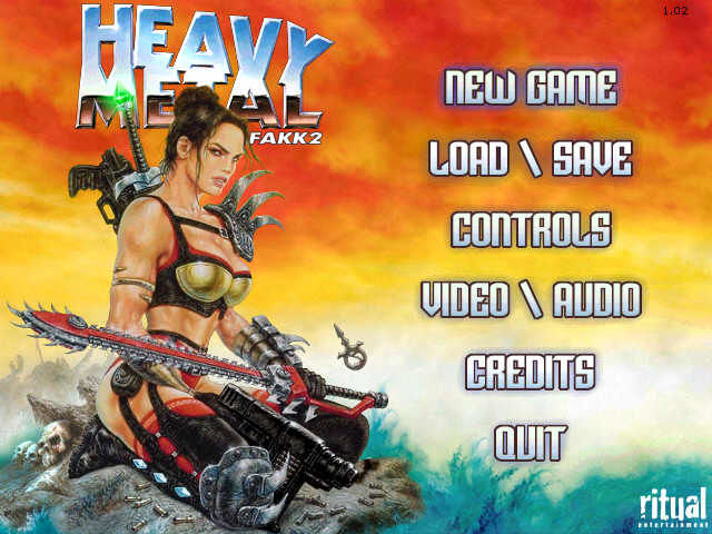 Heavy Metal: F.A.K.K. 2 Windows main menu