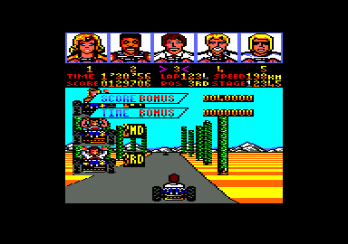Power Drift Amstrad CPC The top 2 have finished, with me 3rd
