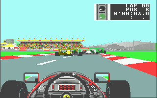 Ferrari Formula One Atari ST Closing in on these cars