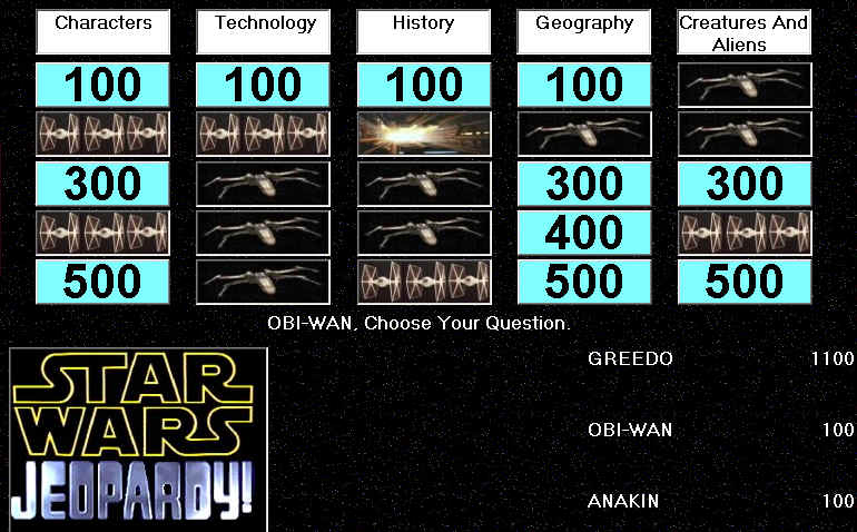 Star Wars: Jeopardy! Windows Well into round 1