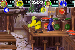 Shrek SuperSlam Game Boy Advance Bar Brawl