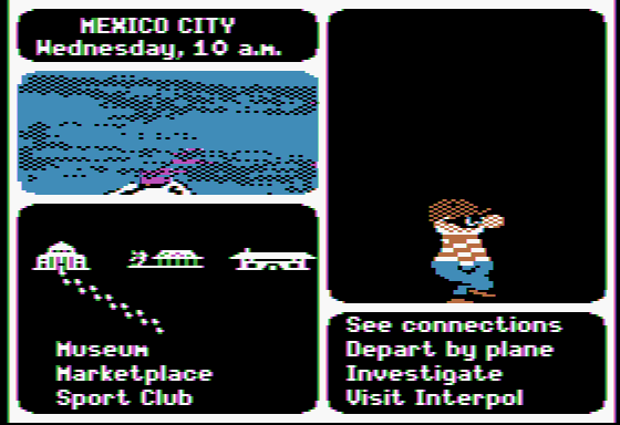 Where in the World Is Carmen Sandiego? Apple II A V.I.L.E. henchman! I'm on the right track...