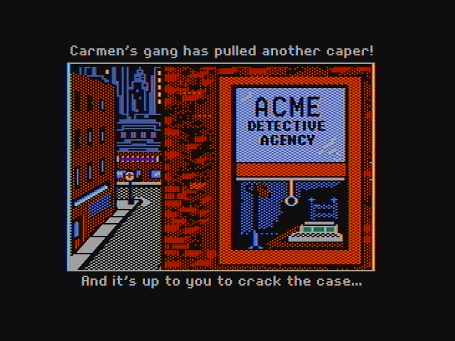 Where in the World is Carmen Sandiego? DOS Can you crack the case? (CGA with composite monitor)