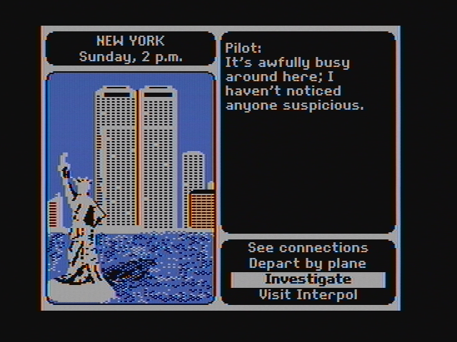 Where in the World Is Carmen Sandiego? DOS Nothing here, wrong location... (CGA with composite monitor)