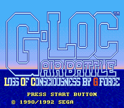 G-Loc Air Battle Genesis Title screen