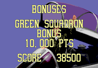 G-Loc Air Battle Genesis Bonus screen
