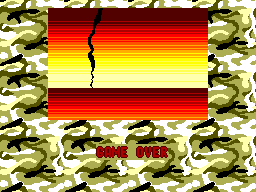 G-Loc: Air Battle SEGA Master System Game over