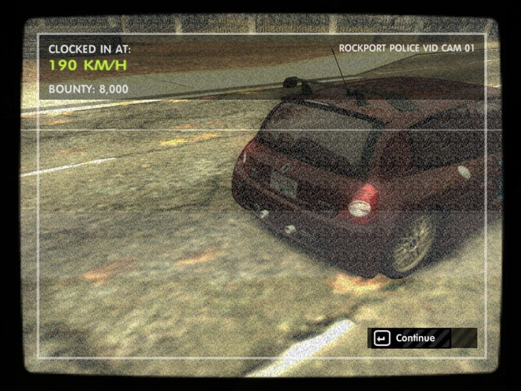 Need for Speed: Most Wanted (Black Edition) Windows Shot by a Radar!