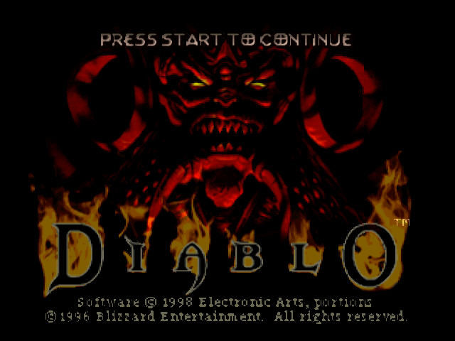 Diablo PlayStation Title screen.