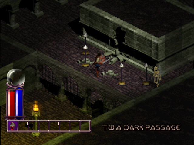 Diablo PlayStation Dark passage to the caves.