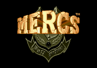Mercs Genesis Title screen
