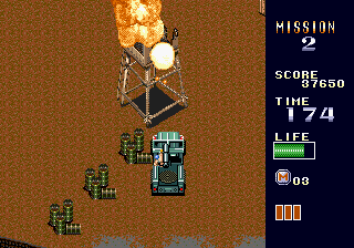 Mercs Genesis Blowing up a turret