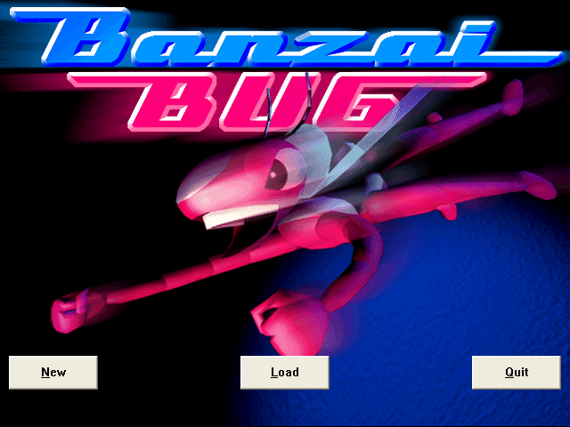 Banzai Bug Windows Title screen