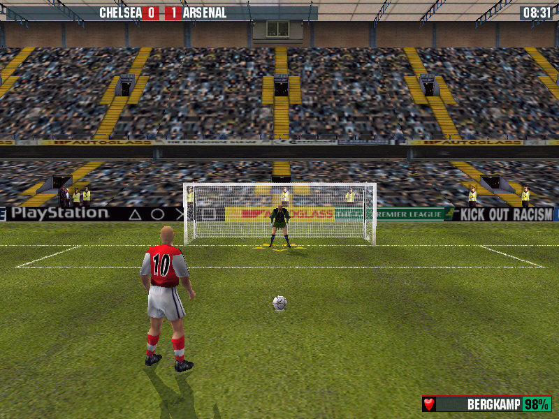 The F.A. Premier League Stars 2001 Windows Taking a penalty...