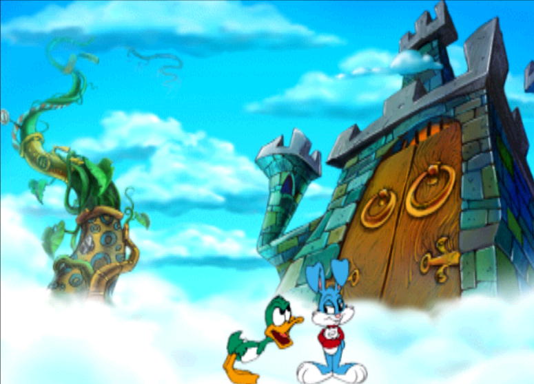 Tiny Toon Adventures: The Great Beanstalk PlayStation We begin the game with Plucky and Buster arguing because they found the castle doors locked.