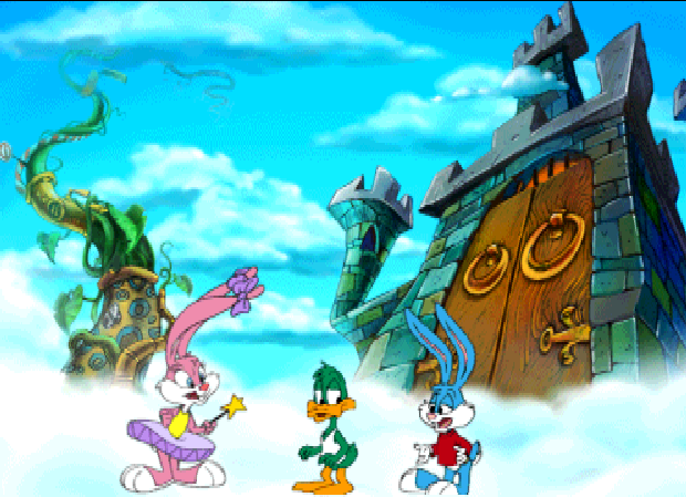 "Tiny Toon Adventures: The Great Beanstalk PlayStation Babs ""drops"" in and tells them she can help."