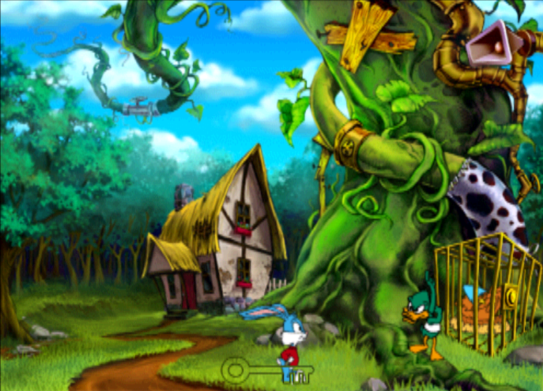 Tiny Toon Adventures: The Great Beanstalk PlayStation Plucky refuses to return up the beanstalk for other items...until Buster mentions the loot.